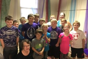 Junior Lutherans-tent room